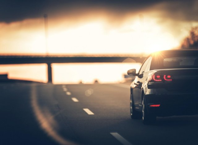 Highway Car Trip